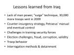 lessons learned from iraq