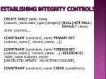 establishing integrity controls