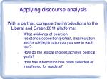 applying discourse analysis