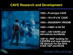 cave research and development