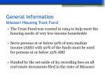 general information missouri housing trust fund