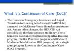what is a continuum of care coc