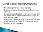 gerak sosial social mobility