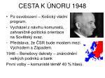 cesta k noru 1948