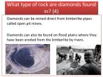what type of rock are diamonds found in 4