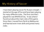 my history of soccer
