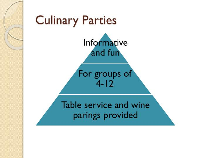 Culinary Parties