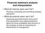financial statement analysis and interpretation2