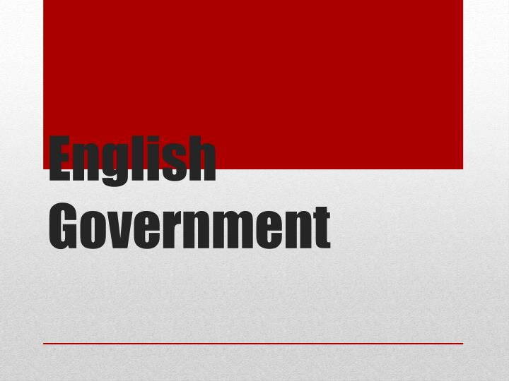 english government n.