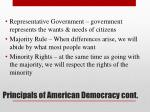 principals of american democracy cont