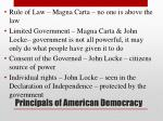 principals of american democracy