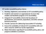 pdaa core criteria