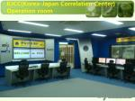 kjcc korea japan correlation center operation room