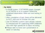recent status hardware rvdb