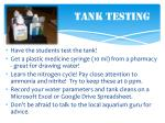 tank testing