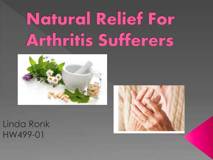 natural relief for arthritis sufferers n.