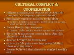 cultural conflict cooperation
