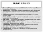 studies in turkey