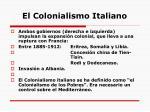 el colonialismo italiano