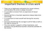 important themes in crisis work1