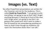 images vs text