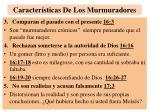 caracter sticas de los murmuradores1