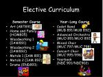 elective curriculum