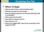 developing your plan
