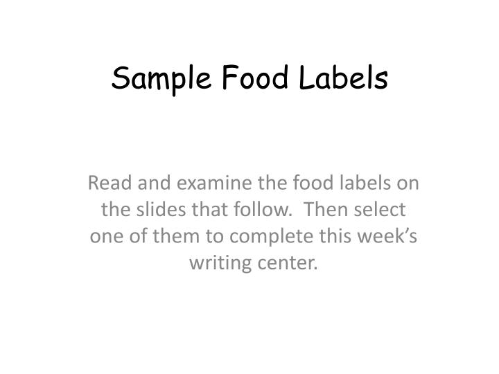 ppt sample food labels powerpoint presentation id 6502122