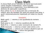 class math