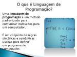 o que linguagem de programa o