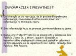 informacija i privatnost