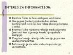 interes za informacijom