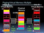 paging virtual memory multiple processes