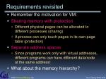 requirements revisited