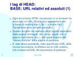 i tag di head base url relativi ed assoluti 1