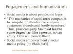 engagement and humanization