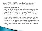 how cvs differ with countries1