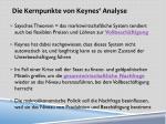 die kernpunkte von keynes analyse
