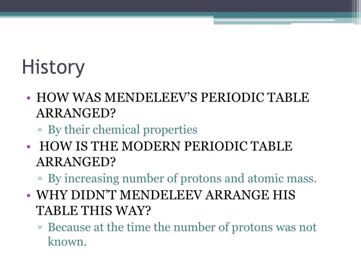 Ppt electrons and the periodic table powerpoint presentation id how was mendeleevs periodic table arranged urtaz Image collections