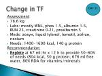 change in tf