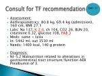 consult for tf recommendation