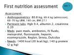 first nutrition assessment