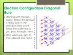 electron configuration diagonal rule