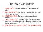 clasificaci n de aditivos