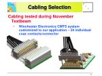 cabling selection