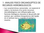 1 analisis fisico organoleptico de recursos hidrobiologicos