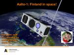 aalto 1 finland in space