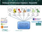 national infrastructure database newcastle