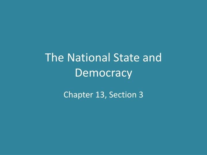 the national state and democracy n.